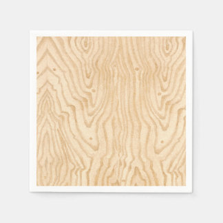 Wood Grain Disposable Napkins