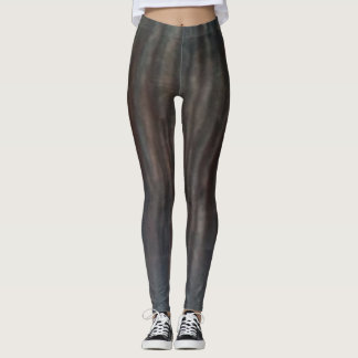 Wood grain effect leggings