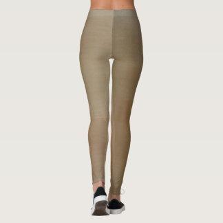 Wood grain effect leggings