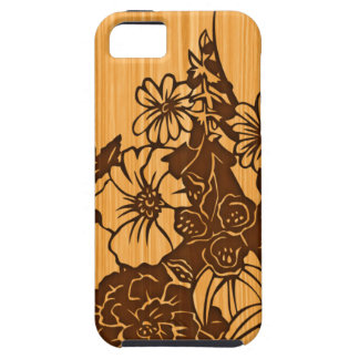 Wood Grain Floral iPhone 5G Tough Case