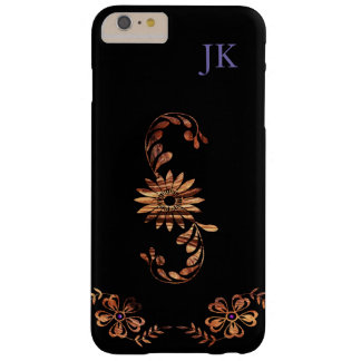 Wood Grain Flowers Barely There iPhone 6 Plus Case