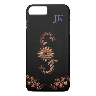 Wood Grain Flowers iPhone 7 Plus Case