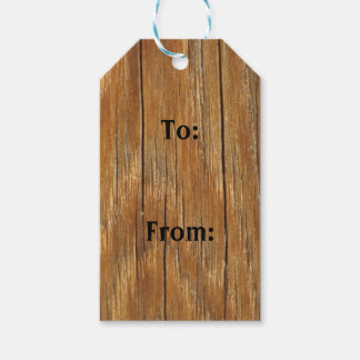 Wood Grain Gift Tags