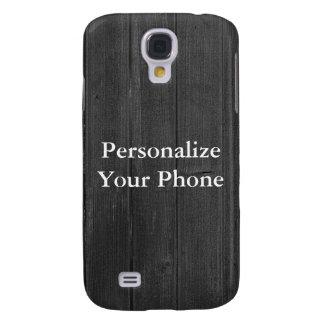 Wood Grain gray Galaxy S4 Cases