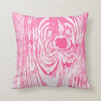 Wood Grain Hot Pink Pattern Pillow