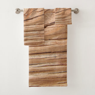 Wood Grain Knothole Bath Towel Set