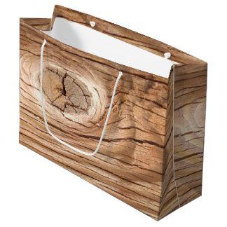 Wood Grain Knothole Large Gift Bag