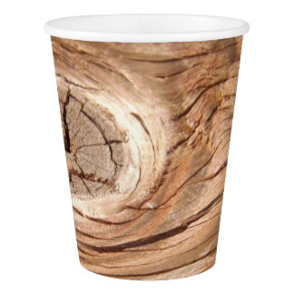 Wood Grain Knothole Paper Cup