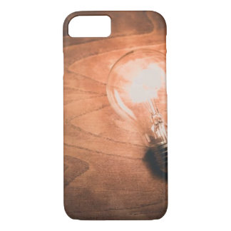 Wood Grain Lightbulb - Iphone Case