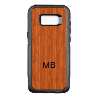 Wood Grain Look Monogram OtterBox Commuter Samsung Galaxy S8+ Case