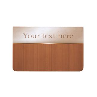 Wood Grain Marbled Personalised Pocket Journal