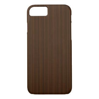 Wood Grain Medium/Dark iPhone 7 Case