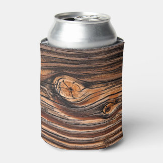 Wood Grain Pattern Can Cooler