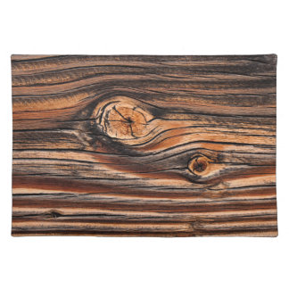 Wood Grain Pattern Placemat