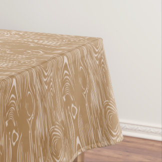 Wood grain pattern tablecloth