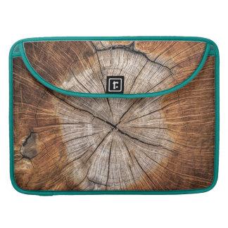 Wood Grain, peacock MacBook Pro Sleeve