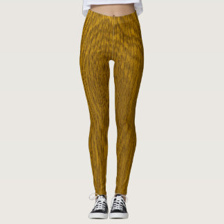 Wood Grain Print Leggings