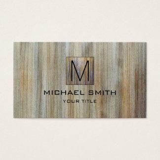 Wood Grain Professional Elegant Monogram #25