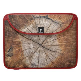 Wood Grain, red MacBook Pro Sleeve