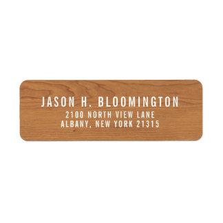 Wood Grain | Return Address Return Address Label