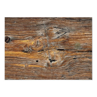 Wood grain, sheet of weathered timber personalized announcement