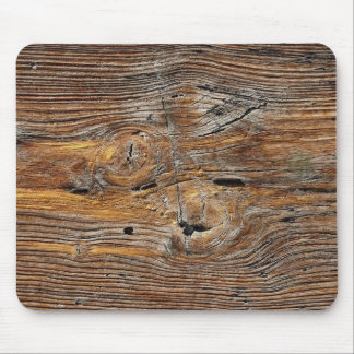 Wood grain, sheet of weathered timber mouse pad