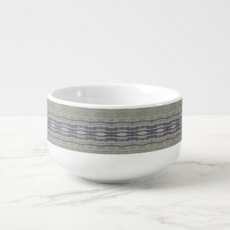 wood grain soup mug