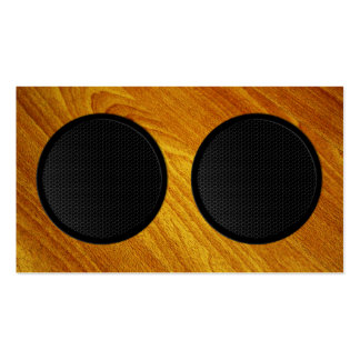 Wood Grain Speaker Cabinet Business Card Templates