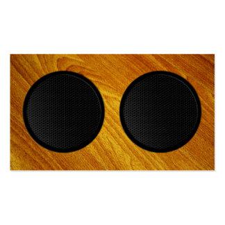 Wood Grain Speaker Cabinet Pack Of Standard Business Cards