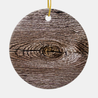 Wood Grain Texture Ceramic Ornament