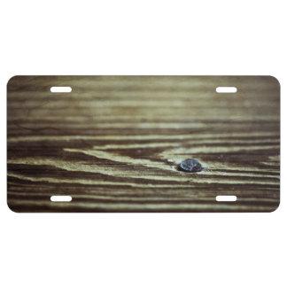 Wood Grain Texture License Plate