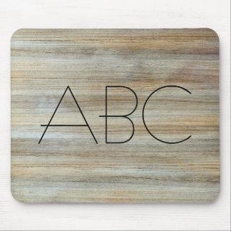 Wood Grain Texture Monogram #2 Mouse Pad