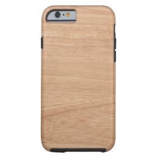 Wood grain tough iPhone 6 case