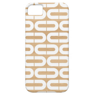 Wood graphic geometric abstract oval chain pattern iPhone 5 case