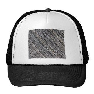 wood mesh hats
