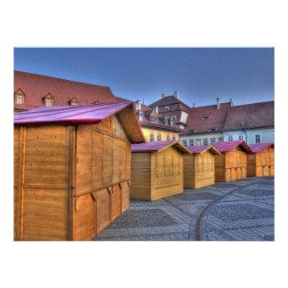 Wood houses invitations