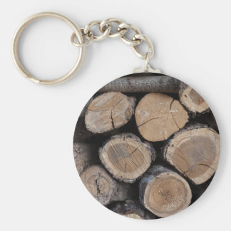 wood in the woodshed basic round button key ring