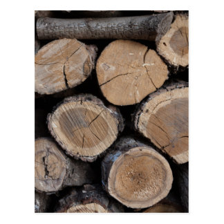 wood in the woodshed postcard