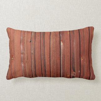 Wood in typical Swedish red Lumbar Cushion