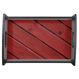Wood in typical Swedish red Serving Tray