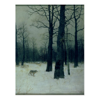 Wood in Winter, 1885 Postcard