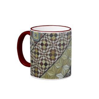 Wood inlay design ringer mug