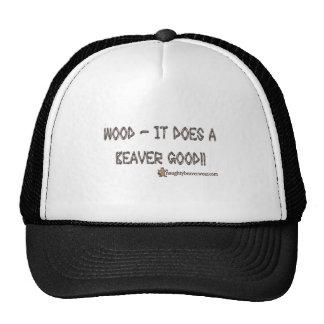 Wood It Does A Beaver Good Mesh Hat