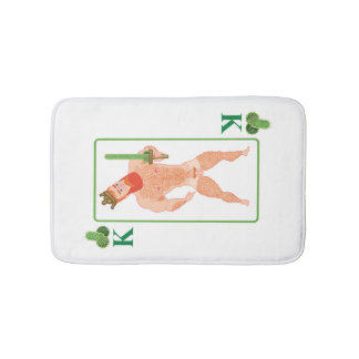Wood king (king of clubs) bath mat
