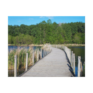 Wood Lake Park Boardwalk Scenic Canvas Print