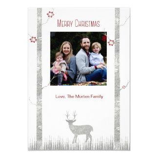 Wood land Deer Merry Christmas Photo Card 13 Cm X 18 Cm Invitation Card