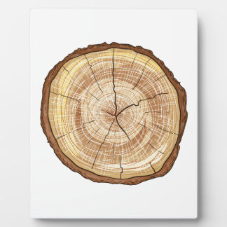 Wood Log Photo Plaque