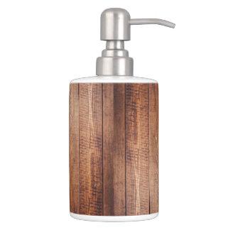 Wood-look Bathroom Set