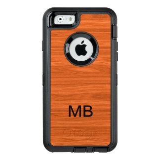 Wood Look Monogram OtterBox iPhone 6/6s Case