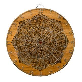 Wood mandala dart board